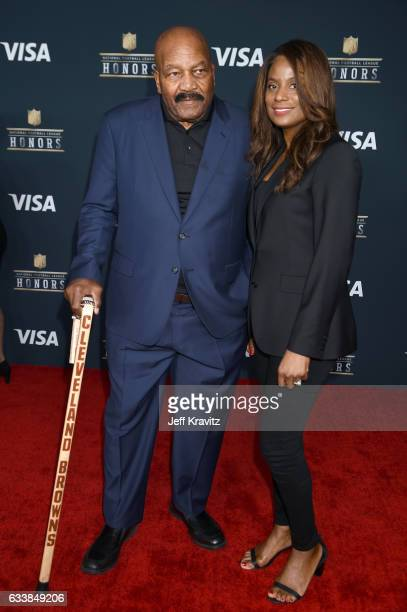 Former NFL player Jim Brown and Monique Brown attend 6th Annual NFL Honors at Wortham Theater Center on February 4 2017 in Houston Texas