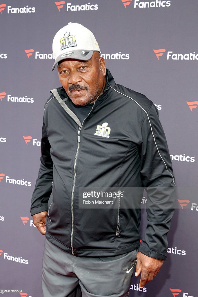 Former NFL player Jim Brown attends Fanatics Super Bowl Party on February 6, 2016 in San Francisco, California.