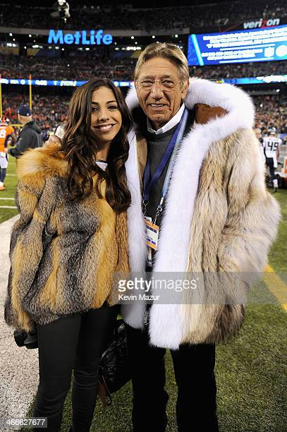 Former NFL player Joe Namath and daughter Jessica Namath attend the Pepsi Super Bowl XLVIII Pregame Show at MetLife Stadium on February 2 2014 in...
