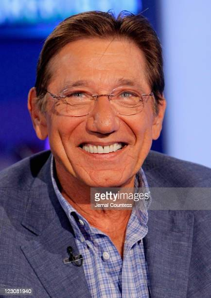 Former NFL player Joe Namath visits America's Nightly Scoreboard with David Asman on the FOX Business Network at FOX Studios on August 30 2011 in New...