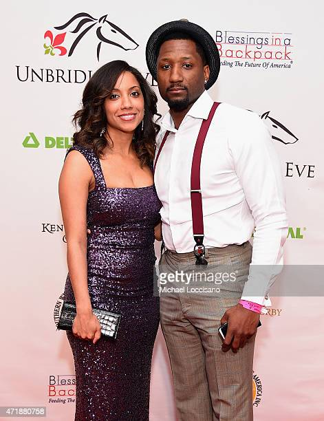 Former NFL player Keenan Burton and a guest attend the 141st Kentucky Derby Unbridled Eve Gala at Galt House Hotel Suites on May 1 2015 in Louisville...