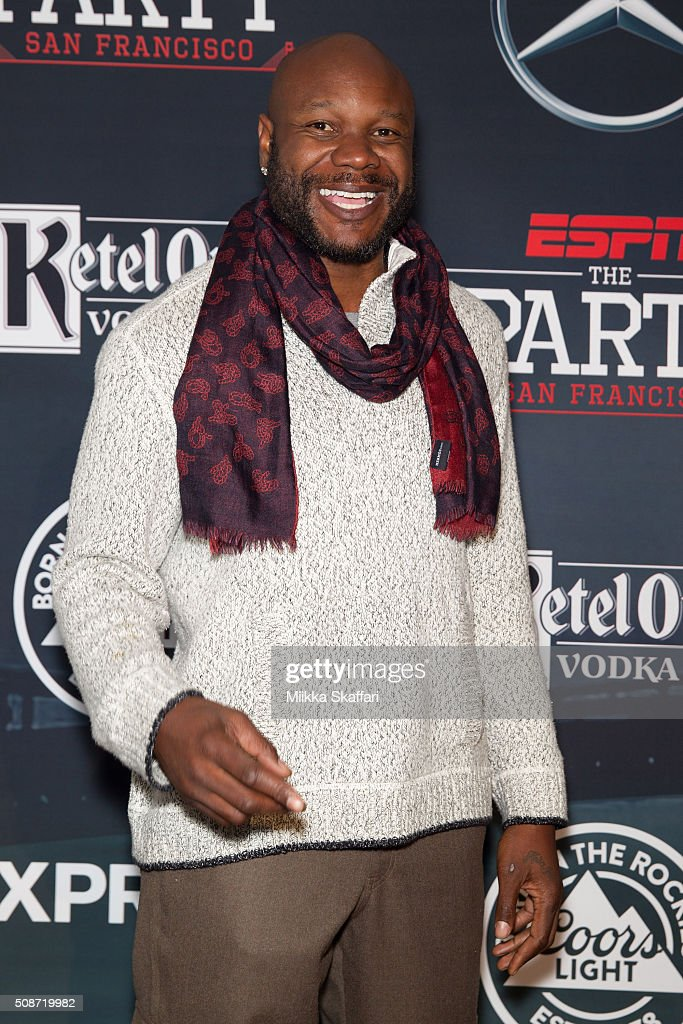 Former NFL player Keith Bulluck arrives at the annual ESPN The Party at Fort Mason Center on February 5, 2016 in San Francisco, California.