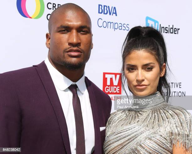 Former NFL Player Larry English and Reality TV Personality Nicole Williams attend the Television Industry Advocacy Awards at TAO Hollywood on...