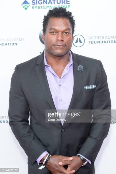 Former NFL PLayer LaVar Arrington attends the Sports Academy Foundation 50 For 50 at Manhattan Country Club on July 13 2017 in Manhattan Beach...