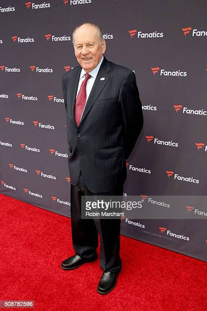 Former NFL player Len Dawson attends Fanatics Super Bowl Party on February 6 2016 in San Francisco California