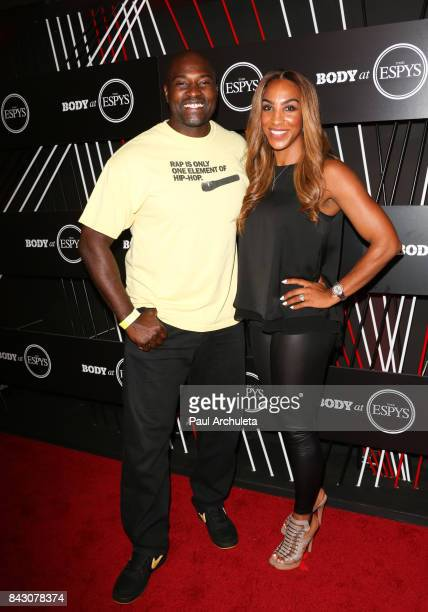Former NFL Player Marcellus Wiley and his Wife Annemarie Wiley attend the ESPN Magazin Body Issue preESPYS party at Avalon Hollywood on July 11 2017...