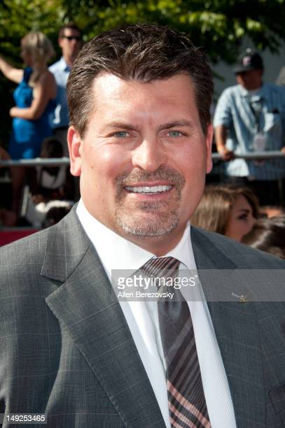 Former NFL player Mark Schlereth arrives at the 2012 ESPY Awards at Nokia Theatre LA Live on July 11 2012 in Los Angeles California