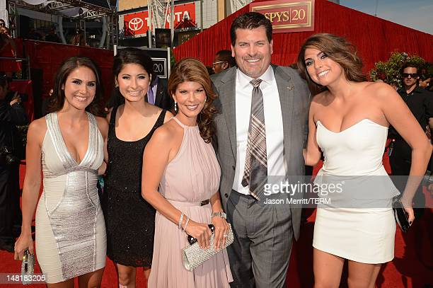 Former NFL player Mark Schlereth with family arrives at the 2012 ESPY Awards at Nokia Theatre LA Live on July 11 2012 in Los Angeles California
