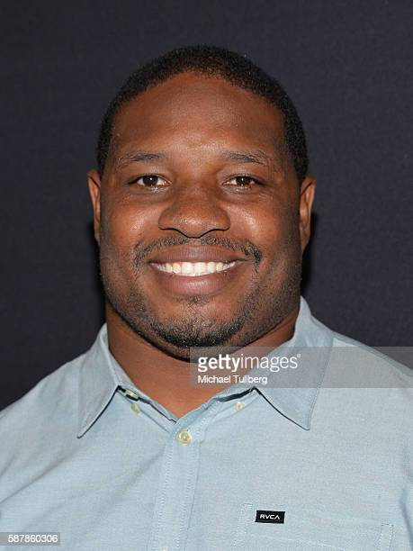 """Former NFL player Maurice Jones-Drew attends the premiere of HBO and NFL Films' """"Hard Knocks: Training Camp With The Los Angeles Rams"""" at Regal LA..."""