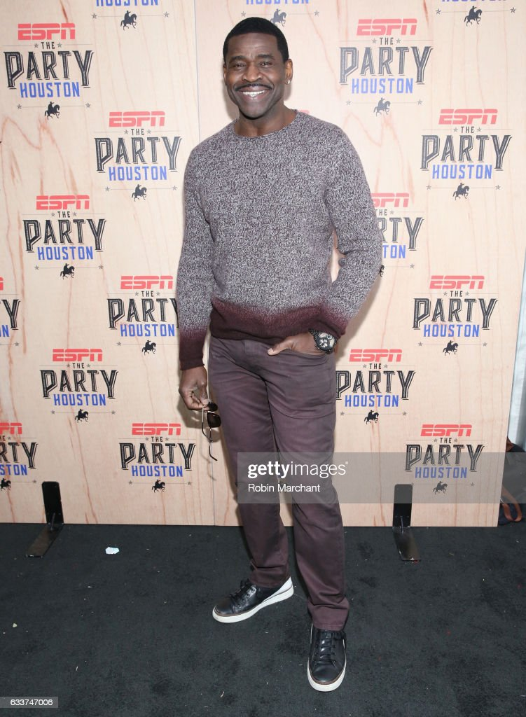 Former NFL player Michael Irvin attends the 13th Annual ESPN The Party on February 3, 2017 in Houston, Texas.