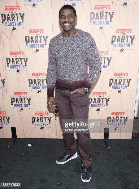 Former NFL player Michael Irvin attends the 13th Annual ESPN The Party on February 3 2017 in Houston Texas
