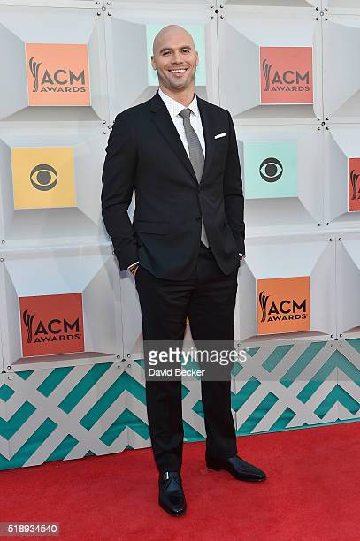 Former NFL player Mike Caussin attends the 51st Academy of Country Music Awards at MGM Grand Garden Arena on April 3 2016 in Las Vegas Nevada