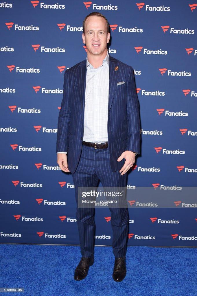 Former NFL player Peyton Manning at the Fanatics Super Bowl