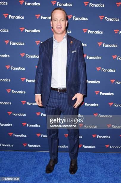 Former NFL player Peyton Manning at the Fanatics Super Bowl Party on February 3, 2018 in Minneapolis, Minnesota.