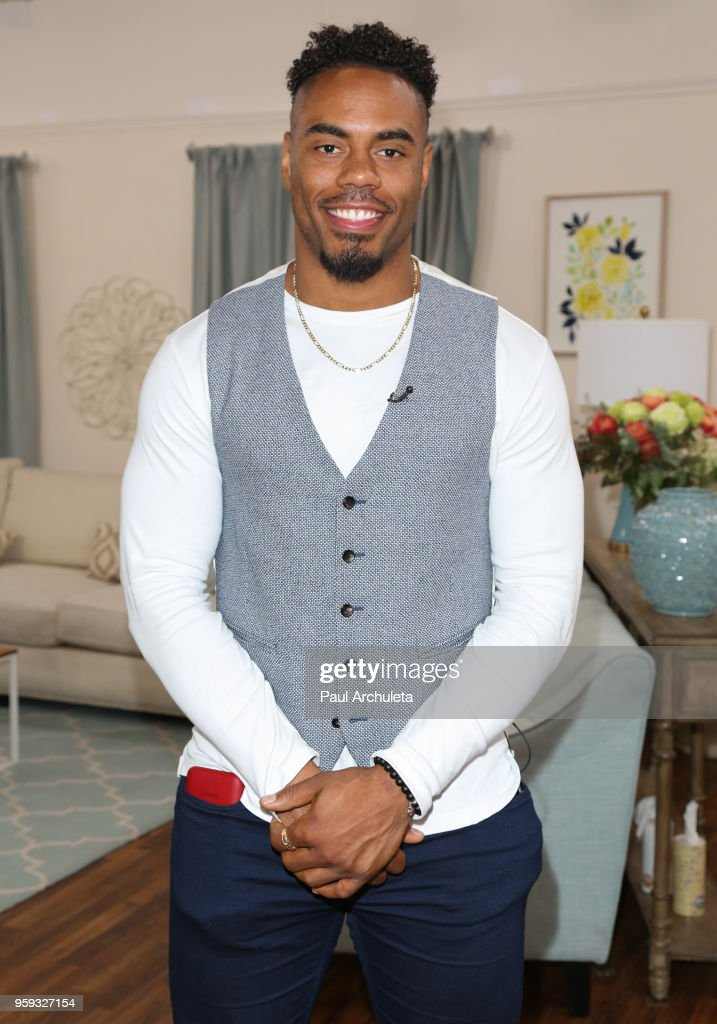 Former NFL Player Rashad Jennings visits Hallmark's 'Home & Family' at Universal Studios Hollywood on May 16, 2018 in Universal City, California.