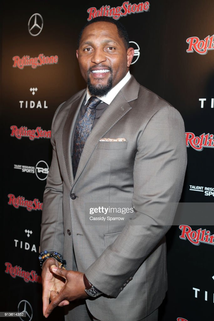 Former NFL player Ray Lewis at Rolling Stone Live: Minneapolis presented by Mercedes-Benz and TIDAL. Produced in partnership with Talent Resources Sports on February 2, 2018 in Minneapolis, Minnesota.