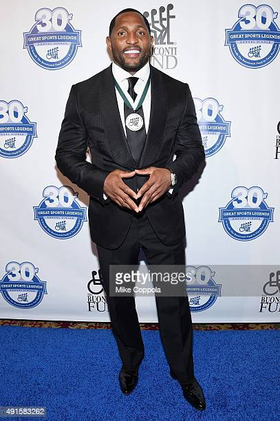 Former NFL player Ray Lewis attends the 30th Annual Great Sports Legends Dinner to benefit The Buoniconti Fund to Cure Paralysis at The Waldorf...