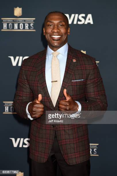 Former NFL player Shannon Sharpe attends 6th Annual NFL Honors at Wortham Theater Center on February 4 2017 in Houston Texas