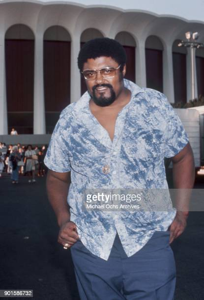 Former NFL player singer actor and minister Rosey Grier attends an event at the Forum circa 1970 in Inglewood California