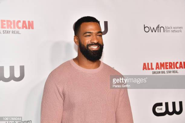 Former NFL Player Spencer Paysinger attends The CW and the Black Women Film Network presents All American special screening at Regal Atlantic Station...