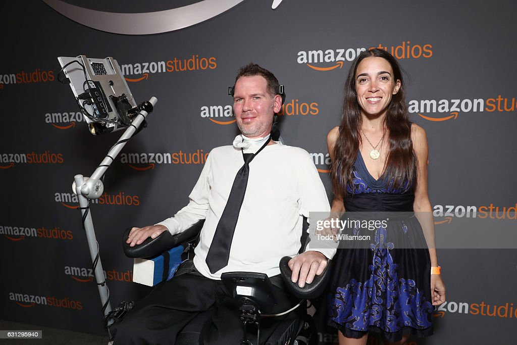 Former NFL Player Steve Gleason And Michel Varisco Gleason Attend Amazon  Studios Golden Globes Celebration At