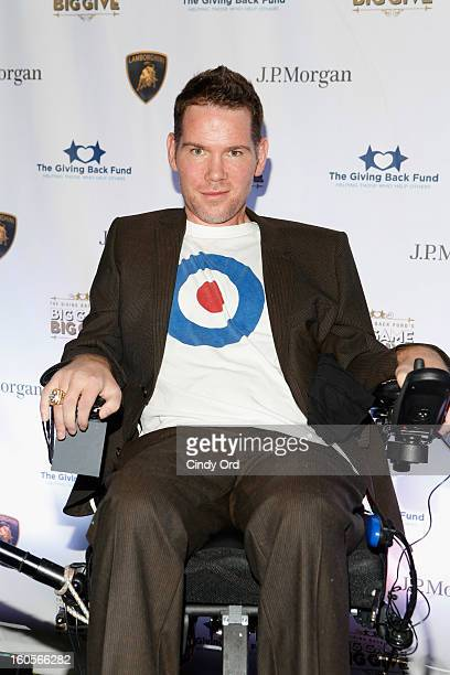 Former NFL player Steve Gleason attends The Giving Back Fund's 4th Annual Big Game Big Give Super Bowl Celebration on February 2 2013 in New Orleans...