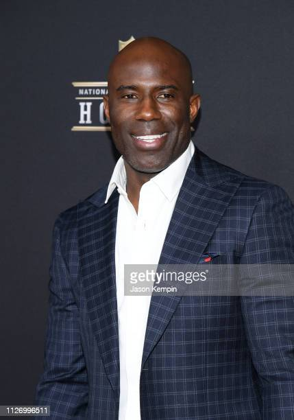 Former NFL player Terrell Davis attends the 8th Annual NFL Honors at The Fox Theatre on February 02 2019 in Atlanta Georgia