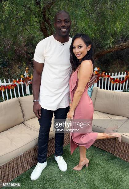 Former NFL player Terrell Owens and dancer Cheryl Burke attend Hallmark's 'Home Family' at Universal Studios Hollywood on October 3 2017 in Universal...