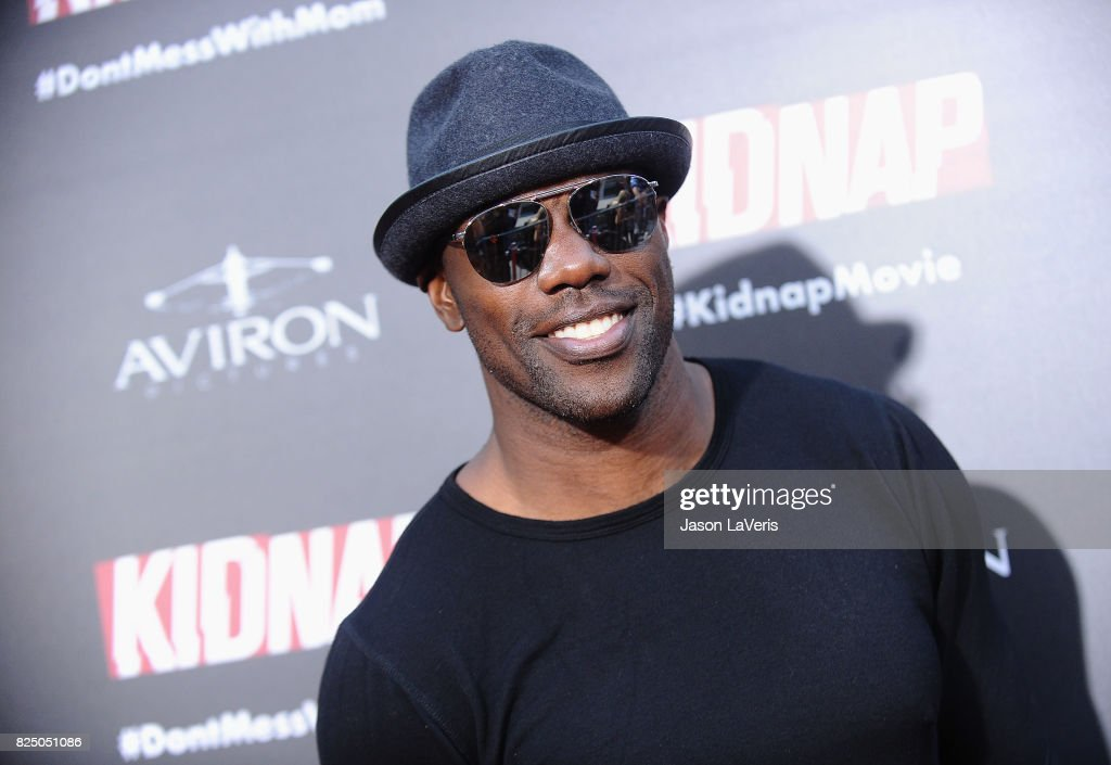 Former NFL player Terrell Owens attends the premiere of 'Kidnap' at ArcLight Hollywood on July 31, 2017 in Hollywood, California.