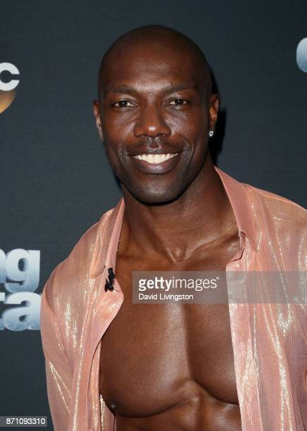 Former NFL player Terrell Owens poses at 'Dancing with the Stars' season 25 at CBS Televison City on November 6 2017 in Los Angeles California