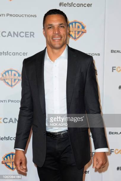 Former NFL player Tony Gonzalez arrives for the F*ck Cancer Gala at Warner Bros Studio in Burbank California on October 13 2018