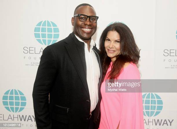 Former NFL player Tony Richardson and MJ Pedone attend the Selah Way Foundation Luncheon at Wells Fargo 42nd St on August 8 2018 in New York City