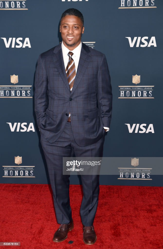 Former NFL player Warrick Dunn attends 6th Annual NFL Honors at Wortham Theater Center on February 4, 2017 in Houston, Texas.