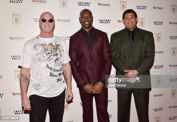 Former NFL players Jim McMahon and Terrell Owens and former Major League Baseball player Jose Canseco attend the grand opening of 'Renegades' at...