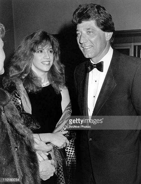 Former NFL quarterback Joe Namath and his wife Deborah Mays arrive at the American Cinematheque Awards in Los Angeles California circa 1980's