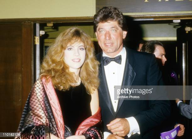 Former NFL quarterback Joe Namath and his wife Deborah Mays pose during the 1980's