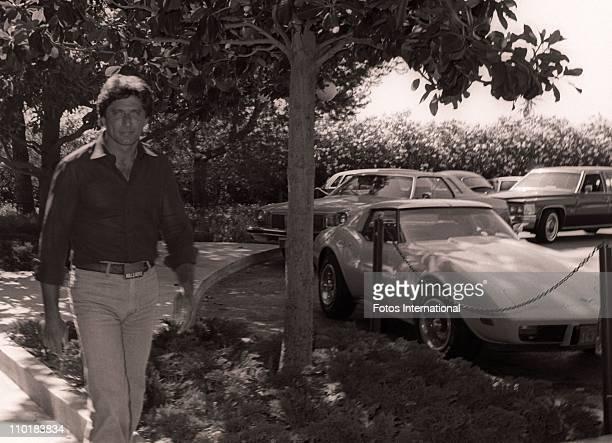 Former NFL quarterback Joe Namath arrives at the NBC studios for a stars luncheon circa 1980's in Los Angeles California