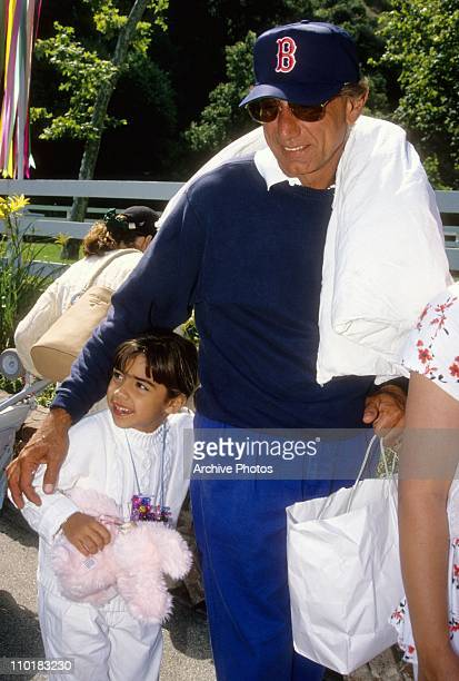 Former NFL quarterback Joe Namath walks around with his daughter Jessica Grace Namath in 1993
