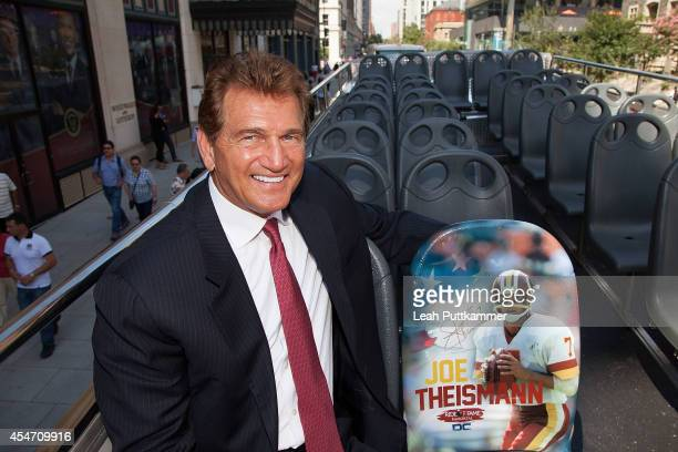 """Former NFL quarterback Joe Theismann at the City Sights DC """"Ride of Fame"""" Induction Ceremony on September 5, 2014 in Washington, D.C."""