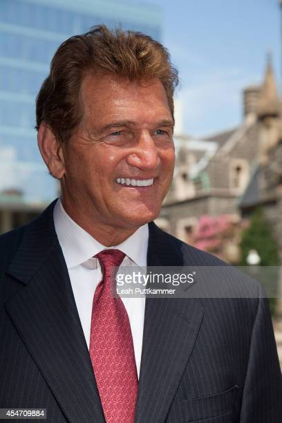 """Former NFL quarterback Joe Theismann during the City Sights DC """"Ride of Fame"""" Induction Ceremony on September 5, 2014 in Washington, D.C."""