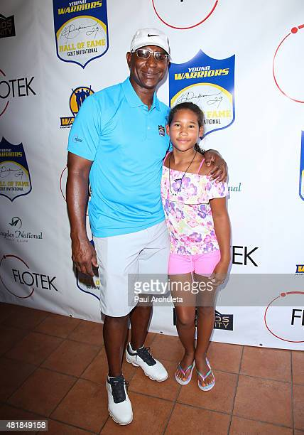 Former NFL Running Back Eric Dickerson and his Daughter Erica Dickerson attend the 2nd annual Hall Of Fame Golf Invitational benefiting The Young...