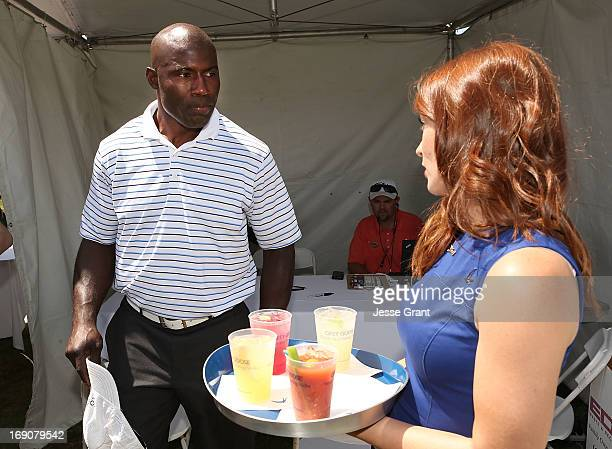 Former NFL running back Terrell Davis attends the Marshall Faulk Celebrity Golf Championship Presented by GREY GOOSE held at La Costa Resort Spa on...