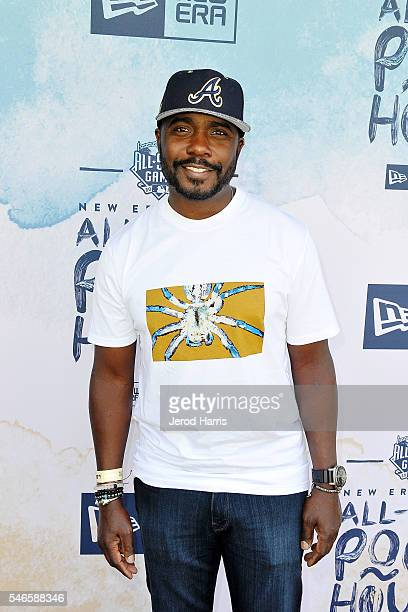Former NFL star Marshall Faulk attends the New Era Pool House at MLB AllStar Week at Palomar Hotel on July 12 2016 in San Diego California