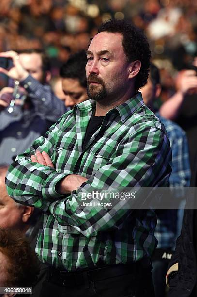 Former NHL goaltender Ed Belfour attends the UFC 185 event at the American Airlines Center on March 14 2015 in Dallas Texas