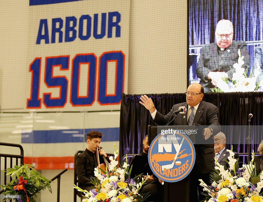 New York Islanders Memorial Service For Al Arbour