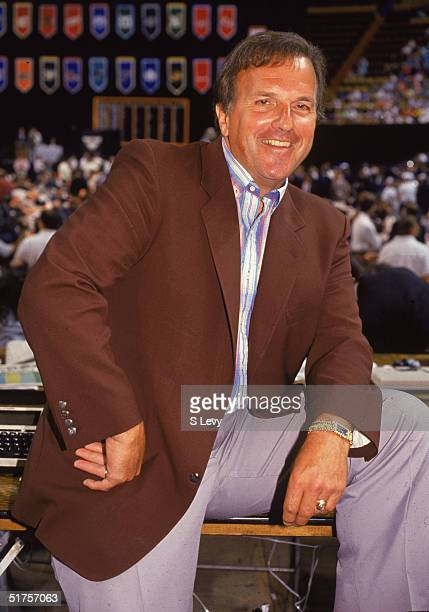 Former NHL player agent Bill Watters at a league draft in the early 1990s