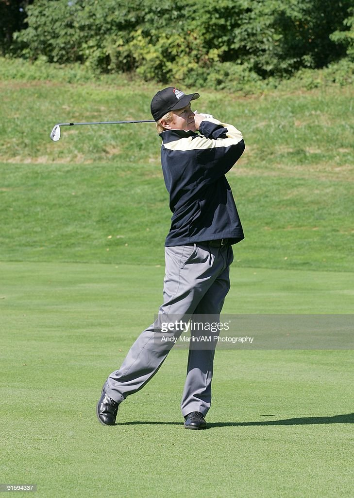 Former NHL player and future NHL Hall of Famer Brian Leetch tees off at the 7th Annual Companions in Courage Foundation Golf Classic at Deepdale Golf Club on October 5, 2009 in Manhasset, New York.