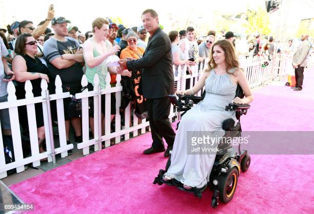 Former NHL player Bobby Carpenter left and Denna Laing arrive on the magenta carpet for the 2017 NHL Awards at TMobile Arena on June 21 2017 in Las...