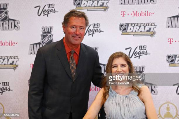Former NHL player Bobby Carpenter left and Denna Laing attend the 2017 NHL Awards at TMobile Arena on June 21 2017 in Las Vegas Nevada