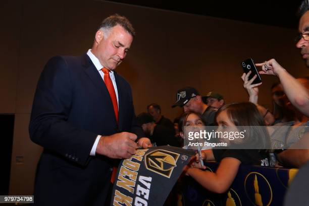 Former NHL player Eric Lindros arrives at the 2018 NHL Awards presented by Hulu at the Hard Rock Hotel Casino on June 20 2018 in Las Vegas Nevada